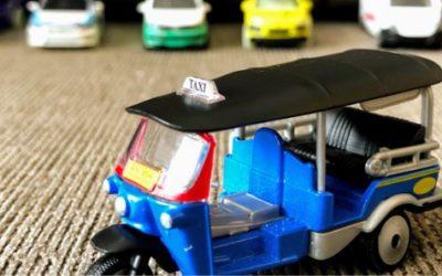 タイはミニカーのチョイスが超豊富。トゥクトゥクミニカーはお土産にも最適