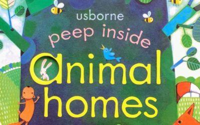 peep inside animal homes|ほのぼのした絵柄と仕掛けで動物の生態を学べる英語絵本
